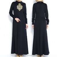 OEM wholesale islamic traditional black maxi new model abaya in dubai