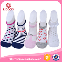 Hot sale safe and soft multi-color terry loop custom baby cartoon tube socks
