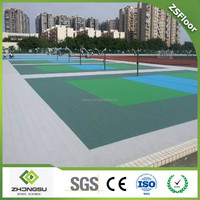 ZSFloor sport use plastic volleyball floor tiles