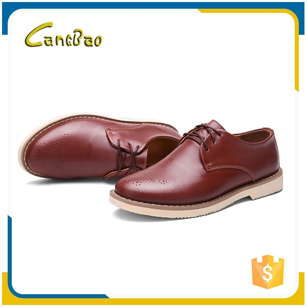 Wholesale fashion business genuine leather dress shoes for men