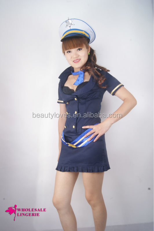 hot bare breasts pilot sailor Dress / uniform, Sexy Party Costumes; navy Hallowmas wear