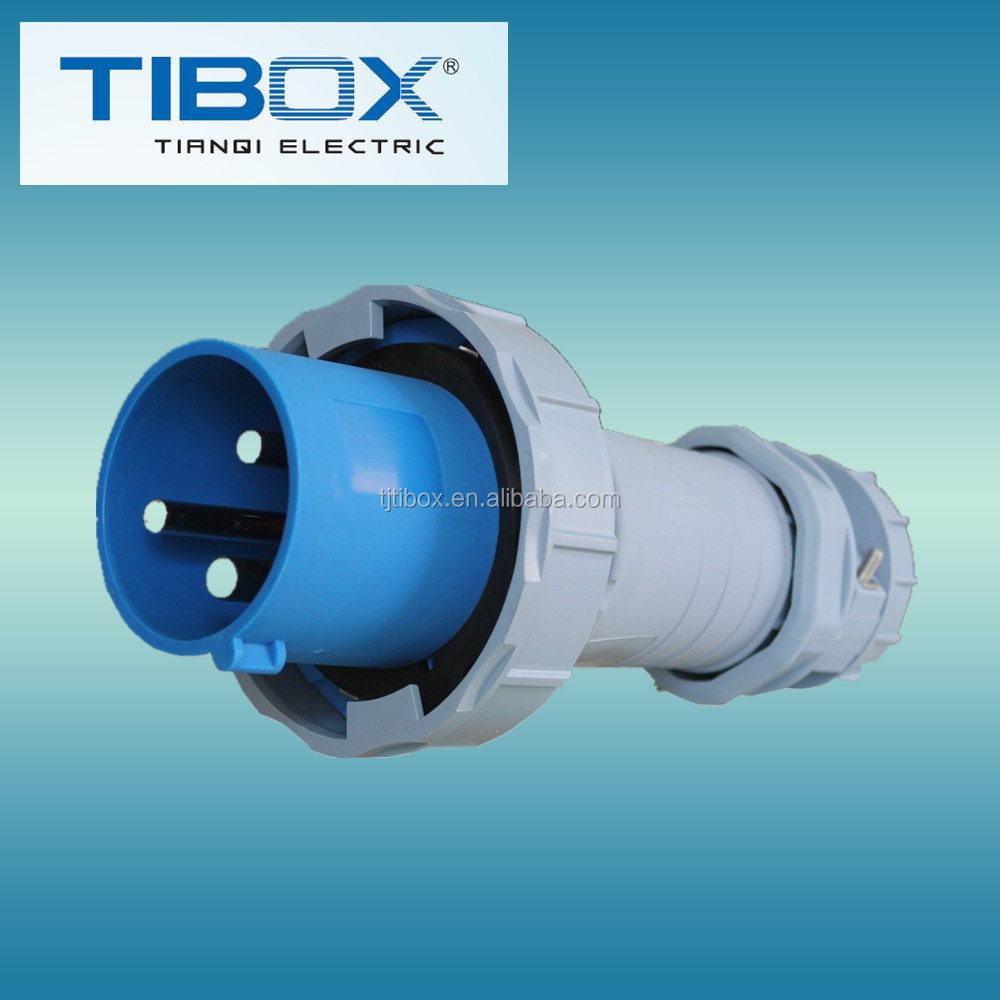2015 Newly developed TIBOX fireproof 3 round pin 5amp plug adapter