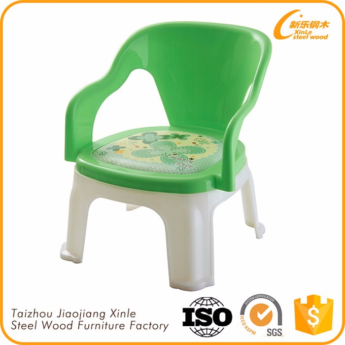 Factory Directly Wholesale Bright Colored Children Plastic Chair