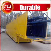 High strength welded 12 units transporattion small car carrier semi truck trailer