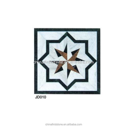 JD010 Classic Design Waterjet Quality Marble Pattern Medallion Floor Tiles