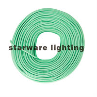 Europe cord set cloth covered fabric wire round, textile fabric wire braided/Mint Green