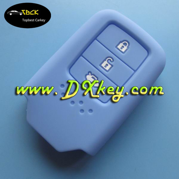 Topbest product for honda silicone car key cover 3 button smart case