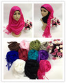 latest thick cotton viscose plain muslim long scarf,shawls,islamic hijab syf109