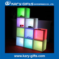 RGB Colors Changing Display Cubes Illuminating LED Holder Cube Lighting
