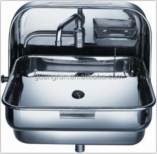 Rv Type Wallmount Stainless Steel Folding Hand Wash