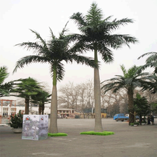 Artificial plants coconut palm big trees with fiberglass plastic steel tube for sale