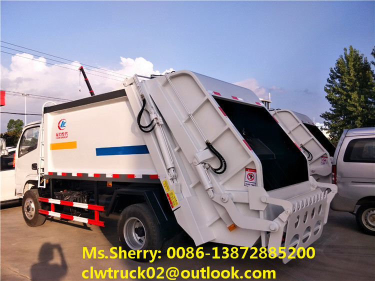 High performance DFAC 4x2 garbage compactor truck for sale
