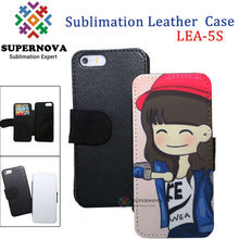Hot Sale Blank Sublimation Leather Case for iPhone 5 5s