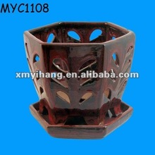 Wholesale Ceramic Planter Pot Handmade Clay orchid pots