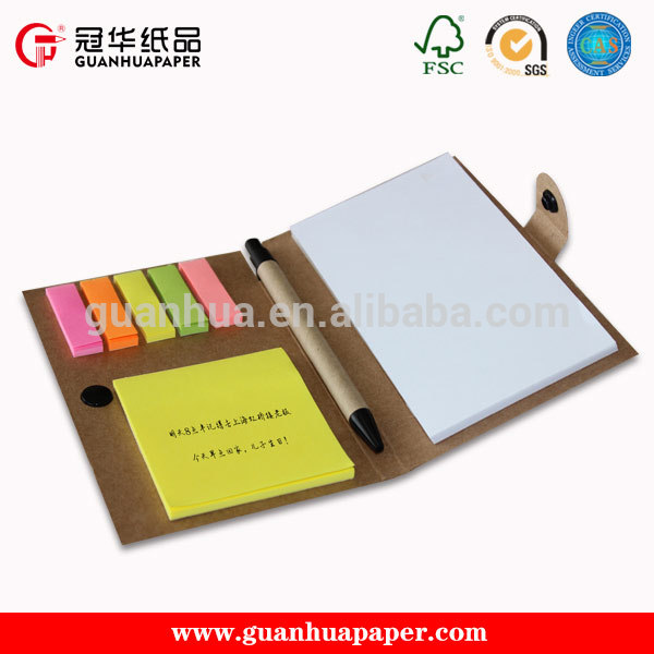 sticky notes memo pad with pen for promotion