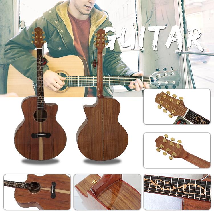 Meilleur belle acoustique nouvelle musique guitare en bois fabricant