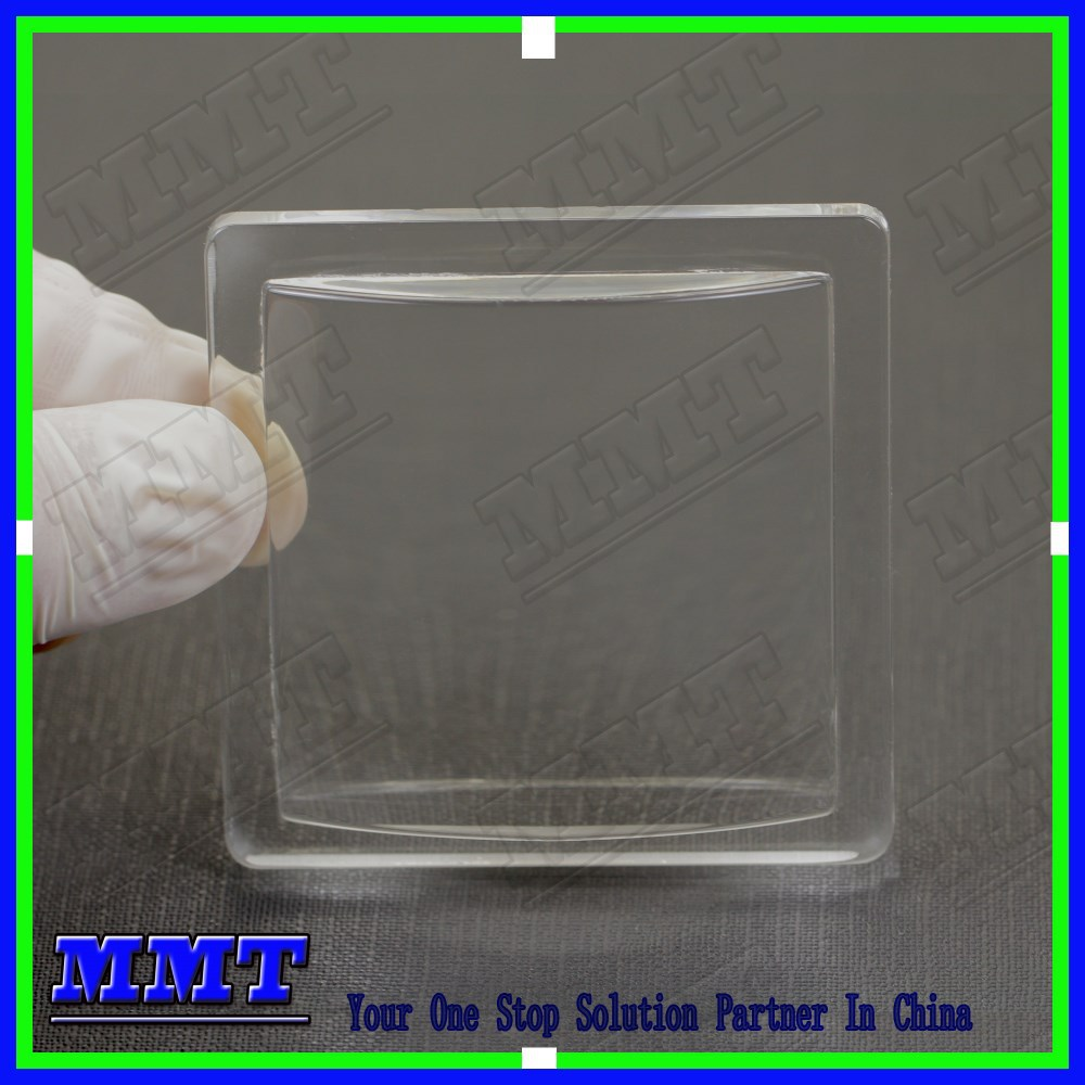 high precise molded electric meter square glass cover