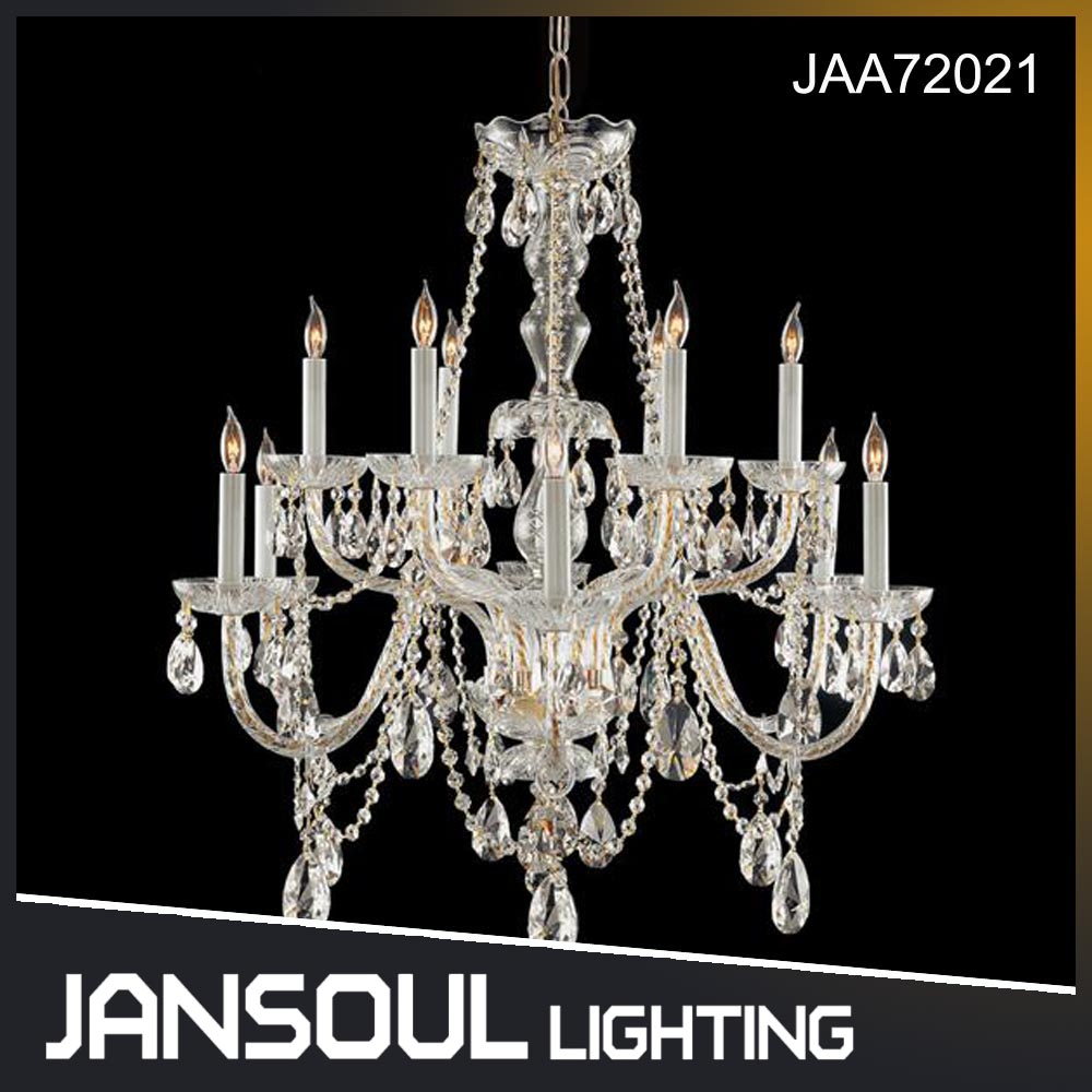 Zhongshan 12 lights luxury tree branch crystal white chandelier decorative hanging led pendant light
