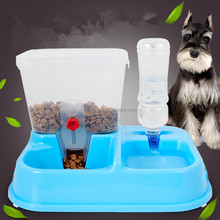 RoblionPet Large Capacity Convenient Plastic Automatic Cat Dog Food Feeders Bowl Set
