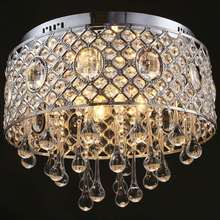4 Lights Ceiling Modern Simple Luxury Round Crystal Ceiling Lamp Crystal Chandelier Lights
