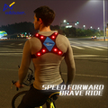 2017 glow safety leisure sports flashing led safety vest reflective