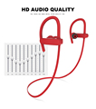 OEM V4.1 Bluetooth waterproof Wireless Bluetooth earphone RU10 IPX 7 waterproof