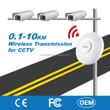 Manufacture Wireless 5km Transmission Kit for RJ45 Highway CCTV IP Camera2.4G/5.8G Frequency