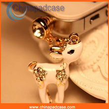 High-quality mini deer dust plug for iPhone 4 5 for iPad