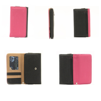 Hot sell fashion design PU leather mobile phone case wallet for Samsung S3 S4 S5