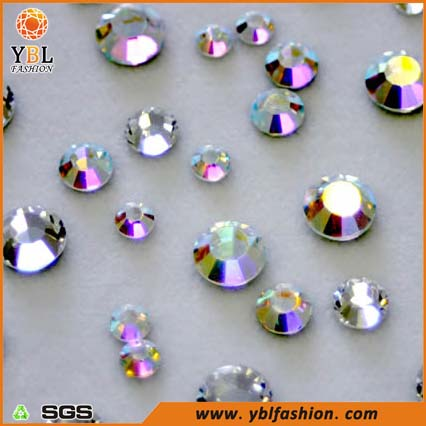 Colorful Rhinestone Hot Fix Crystal Resin Material Shoe Accessory