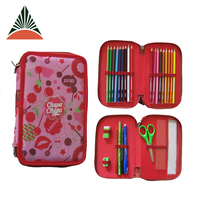 Custom Cute Print 2 Compartments Kids Polyester School Pencil Case