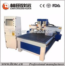 multi spindle 3d wood carving cnc router machine 1300x2500mm 2 spindle cnc machine