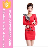 2015 New Arrival Hot Design Elegant Women Office Uniform Style