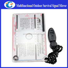 Multifunctional Survival Kits Emergency Rescue Signaling Mirror Outdoor Hiking Tool