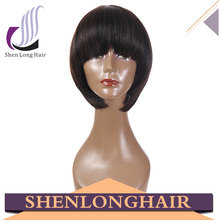 Wholesale factory price short bob lace front, synthetic and human hair mix lace wig, synthetic wig Wig for black women