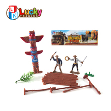 cool plastic scale model wild west cowboys miniature human figures with low price