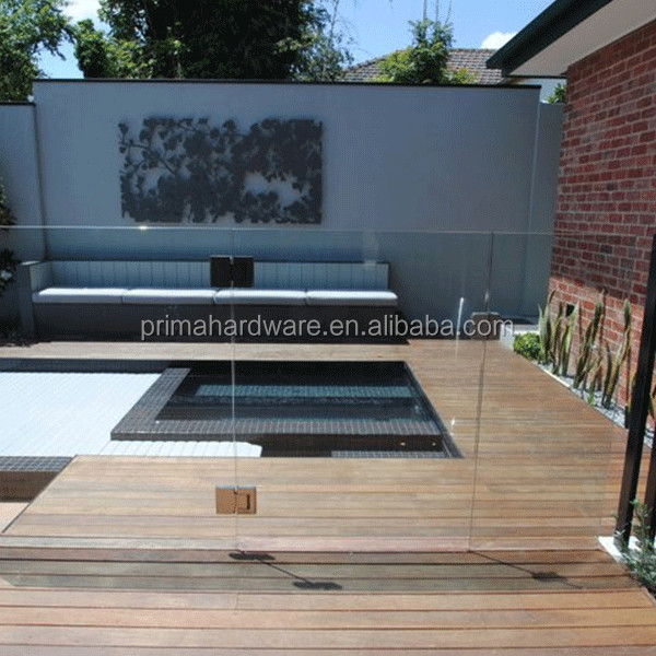 Modern railing stairs frameless glass balustrade handrials for sale