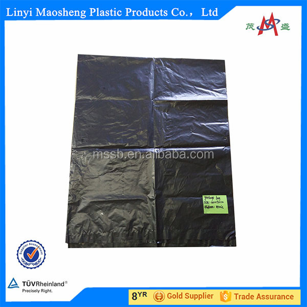 Heavy Duty Biodegradable Large black plant/garbage plastic bag in roll