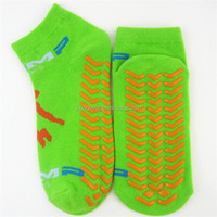 custom colorful pilates socks with grips