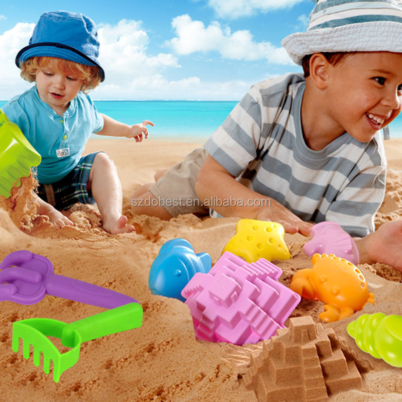 Plastic castle mold mini summer sand beach toys play sets