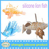 2014 colorful eco silicon decoration lion fish aquarium
