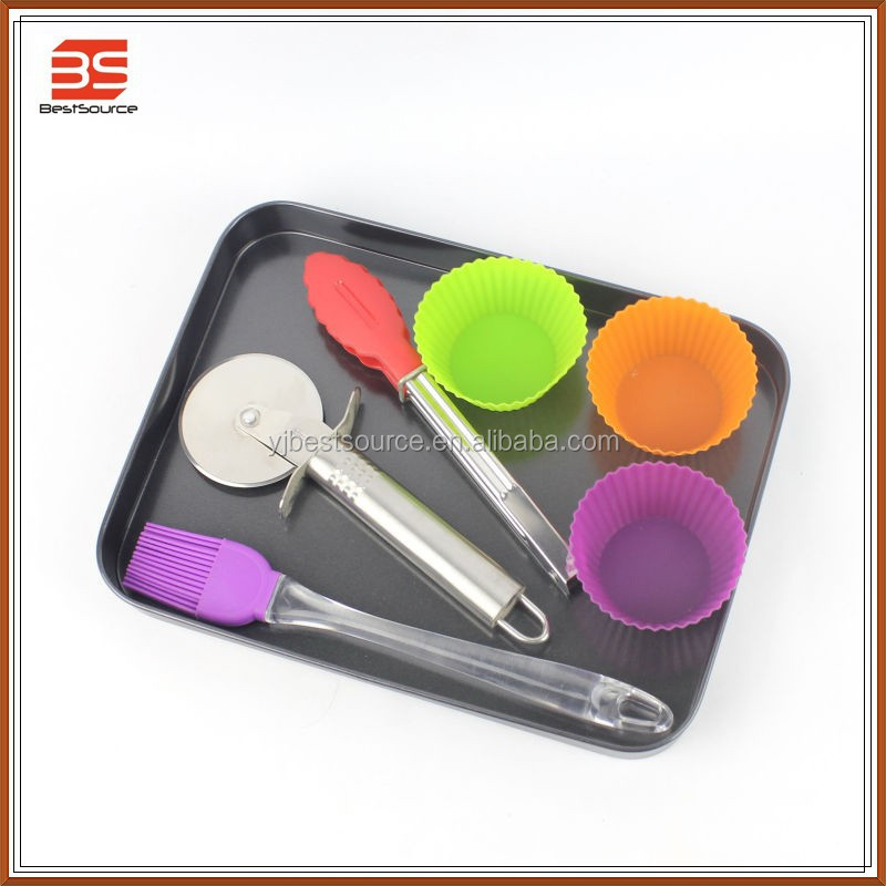 Kids baking set ,Novelty mini silicone/silicon cake baking molds pizza pan