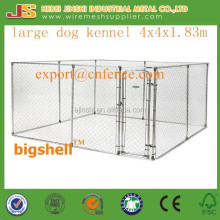 4x4x1.83m Large outdoor chain link dog kennels & dog cages & dog runs dog fence (manufacture)