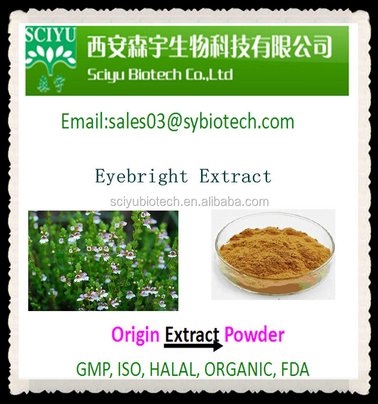 High Quality Eyebright Extract, Eyebright Extract Powder 5:110:1 20:1