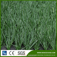 Chinese free samples durable soccer monofilament artificial grass with stem shap