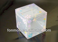 Colorful Plastic Paper Box with clear plastic cover for packaging