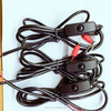 ShenZhen Supplier Mini Black on /off Switch 8.5mm Ring terminal UL 2464 22AWG 300V 80C 2 cord Wire Harness Assembly