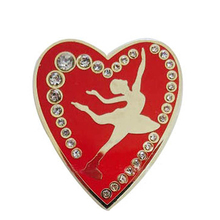 Custom high quality promotional cheap logo metal heart shaped lapel pins