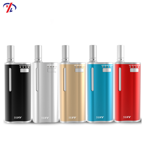 New arrival 5S VV cbd vape kits with colorful variable voltage battery empty vape pen kits
