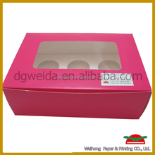 High-quality paper cupcake box 1 to 24 cups wholesale